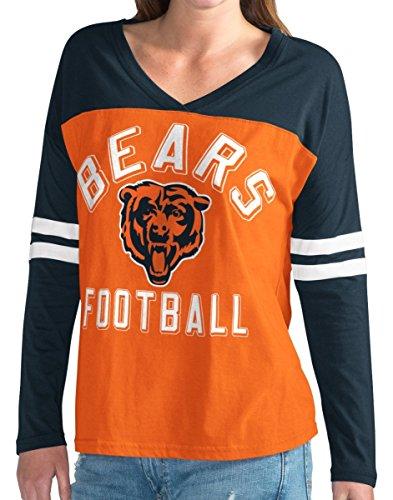 Chicago Bears NFL Women's G-III Goal Line Long Sleeve V-Neck T-Shirt