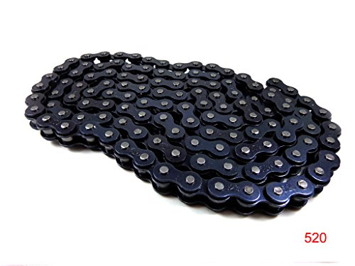 520 Chain 120 Links with Connecting Master Link for 150cc 250cc 300cc 350cc 400cc Motorcycle Dirt Bike ATV Quad Go Kart 4 wheeler Honda Yamaha Kawasaki Suzuki NST