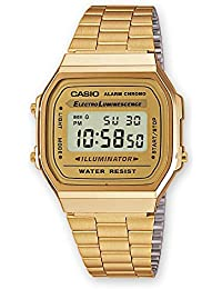 Casio A168WG-9 Men's Vintage Gold Metal Band Illuminator Chronograph Alarm Watch
