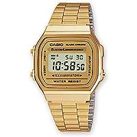Casio A168WG-9 Men's Vintage Gold Metal Band Illuminator Chronograph Alarm Watch