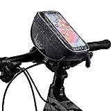 RuiKeep Bike Bag,Bike Front Frame Bag,Top Tube Mount Handlebar Bags Waterproof Touch Screen Phone Holder