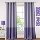 Elrene Home Fashions 026865901405 Juvenile Teen or Tween Blackout Room Darkening Grommet Window Curtain Drape Panel, 52″ x 84″, Purple Review