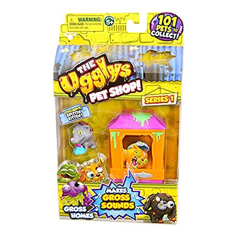 The Ugglys Pet Shop!, Series 1 Gross Homes, Cat Shack with Exclusive Spittin Kitten