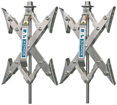 X-Chock Wheel Stabilizer - Pair - One Handle - 28012 (Best 5th Wheel Travel Trailers)