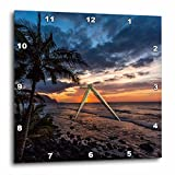 3dRose Beautiful Sunset in Hawaii - Wall Clock, 10 by 10-inch (DPP_206322_1)