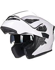 ILM Motorcycle Dual Visor Flip up Modular Full Face Helmet DOT with 7 Colors