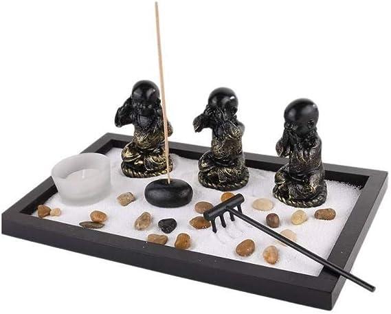 lachineuse Jardin Zen Japonés – Especial de los 3 Bonzes de Sagesse – Decoración asiática: Amazon.es: Hogar
