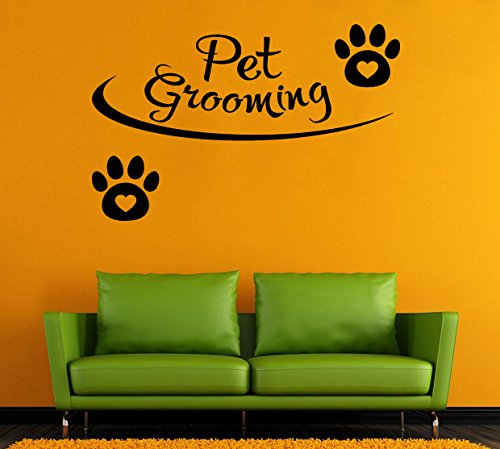 - Pet Grooming Wall Vinyl Decal Pet Salon Wall Vinyl Sticker Salon Wall Decals Wall Vinyl Decor /6iqd/