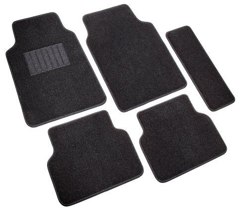 Highland 4680500 5th Avenue Black Ultimate Luxury Carpet Floor Mat - 5 Piece