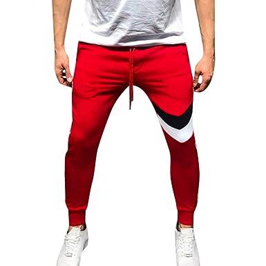 Igemy-Clothing - Pantalones de chándal para Hombre Rojo Rosso XL ...