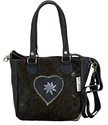 DOMELO TRACHT Taschen, Borsa a tracolla donna nero braun/ schwarz