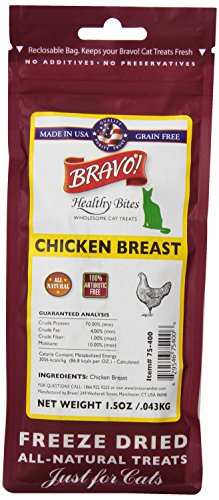 BRAVO 294125 Healthy Bites Chicken Bre-Assistance for Pets, 1.5-Ounce