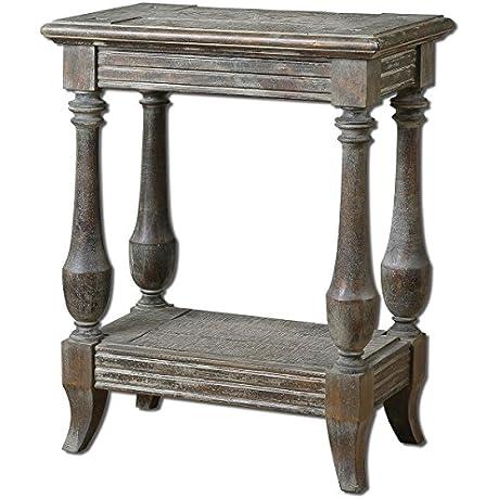 Uttermost 24295 Mardonio Distressed Side Table