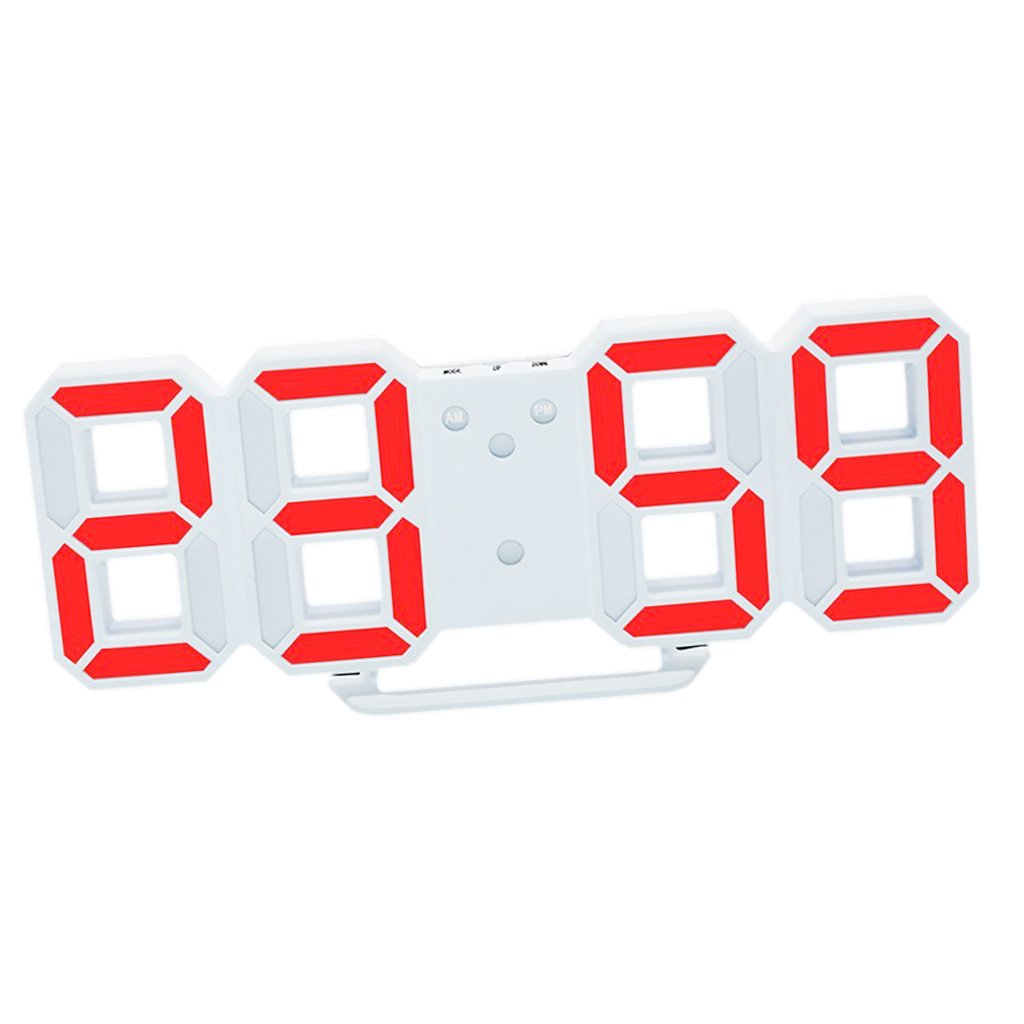 MagiDeal Reloj Digital de Pared LED Alarma Despertador Brillo de LED Ajustable Decoración de Hogar - Naranja: Amazon.es: Hogar