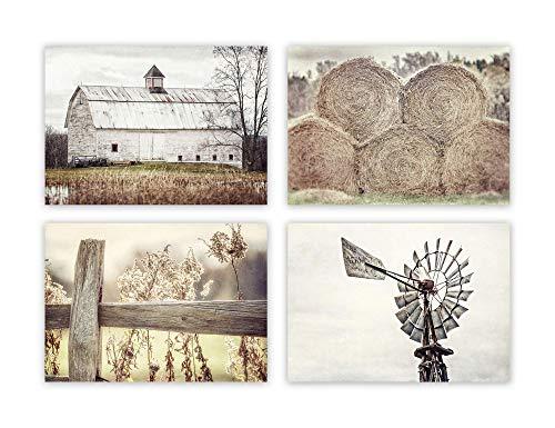 Farmhouse Decor Wall Art Set of 4 5x7