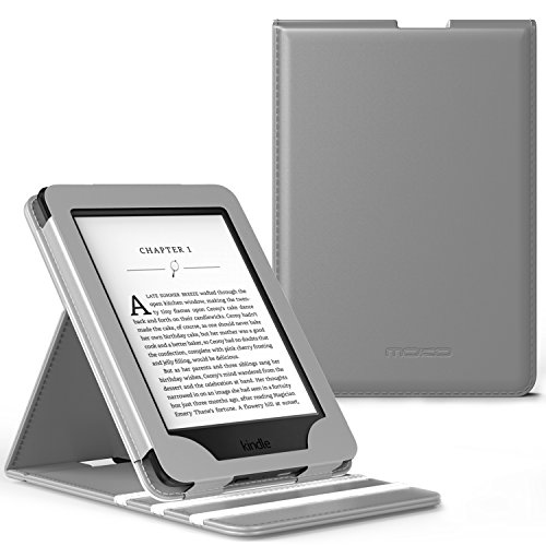 MoKo Case for Kindle Paperwhite, Premium Vertical Flip Cover with Auto Wake/Sleep Fits All Paperwhite Generations Prior to 2018 (Will not fit All-New Paperwhite 10th Generation), Gray