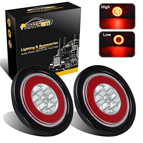 Partsam 2x Glo Lights Clear Red 4