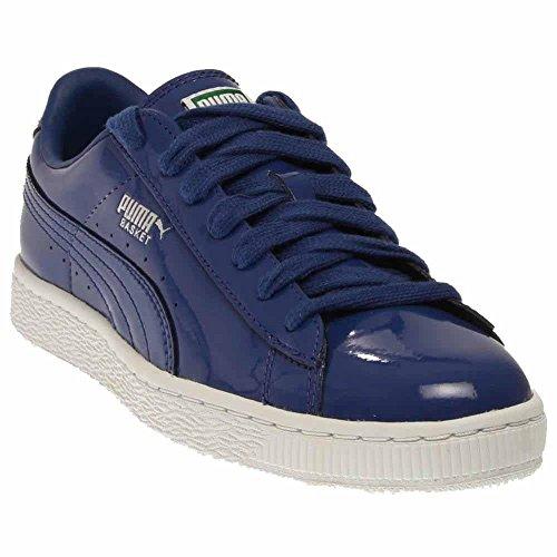 - Puma Men's 6.5 D(M) Basket Matte & Shine Blue Patent Leather Sneakers