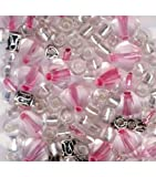 Bracelet Blends Beads- Bicone -Mix Pink
