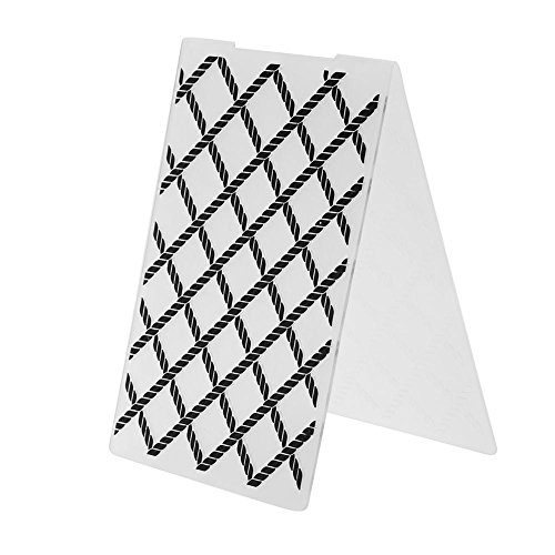 Whitelotous Plastic Embossing Folder Template Mold for Card Making Lattice DIY Craft Scrapbooking Photo (Card Lattice)