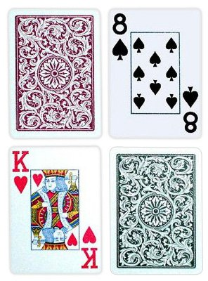 Copag Poker Size Jumbo Index 1546 Playing Cards (Green Burgundy Setup) by Copag