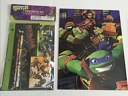 Amazon.com : Ninja Turtles Folder & 7 Pc Sketch Set 6 ...