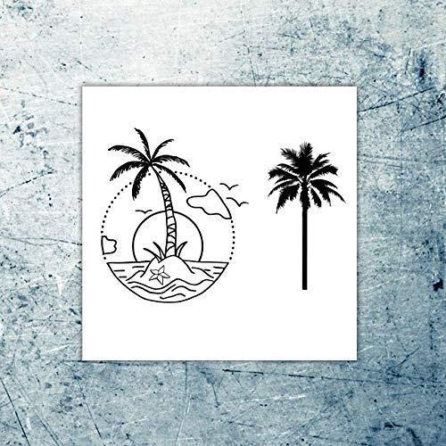 Palmera - Malibu Sunset - Tatuaje temporal (conjunto de 2): Amazon ...