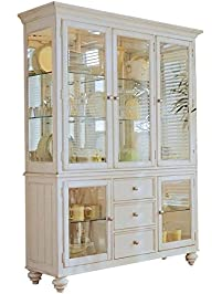 Beaumont Lane China Cabinet In Buttermilk Finish