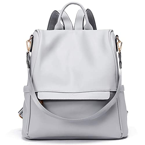 Women Backpack Purse Fashion PU Leather Waterproof Anti-theft Large Travel  Bag Ladies Shoulder School 8ad89de9d9