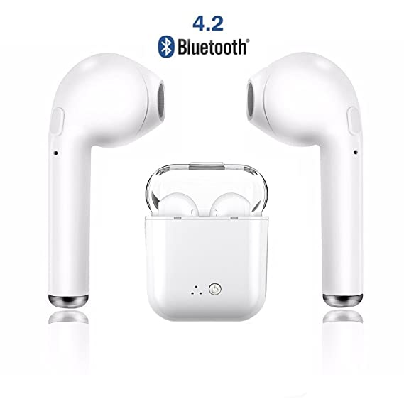 ... Headset,Stereo Earphone Cordless Sport Headsets in-Ear Headphones with Charging Case Compatible with Android and iOS: Home Audio & Theater