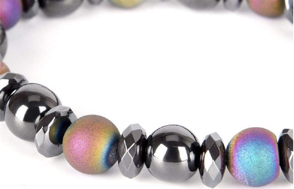 Colorful Stone Weight Loss Bracelet Hematite Magnet Anklet Magnetic Therapy Bracelet Chain Anklet Weight Loss Body Slim Jewelry