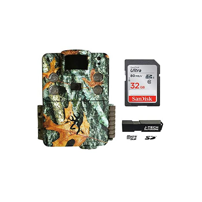 Browning Strike Force HD APEX (2019) Trail Game Camera Bundle Includes 32GB Memory Card and J-TECH Card Reader (18MP)   BTC5HDAPX