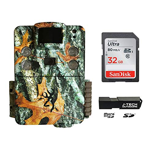 Browning Strike Force HD APEX (2019) Trail Game Camera Bundle Includes 32GB Memory Card and J-TECH Card Reader (18MP) | BTC5HDAPX