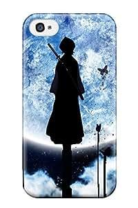 High Quality Shock Absorbing Case For Iphone 4/4s-kuchiki Rukiya Moon Bleach Anime Bleach