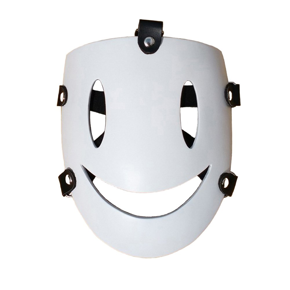 Rulercosplay High-Rise Invasion Tenku Shinpan White Smile Mask Halloween Cosplay Mask