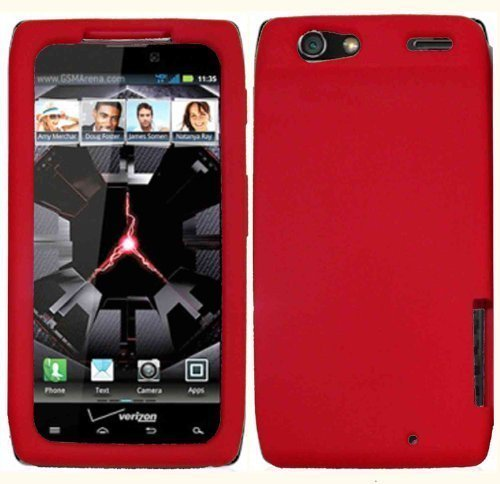 - Red Silicone Jelly Skin Case Cover for Motorola Droid Razr XT912