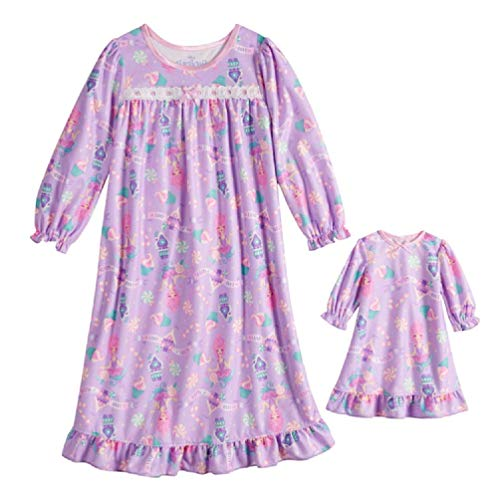 AME Disney's The Nutcracker and The Four Realms Nightgown & Matching Doll Nightgown (2T), Purple