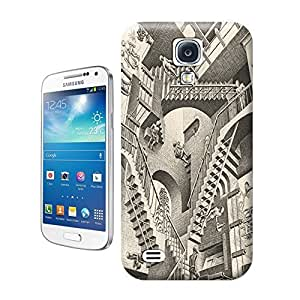 Unique Phone Case Black and white artwork Relativity Hard Cover for samsung galaxy s4 cases-buythecase