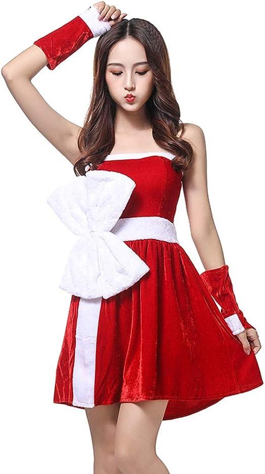 XIADE Disfraz de Papá Noel para Mujer Conjunto de 3 Piezas Vestido ...