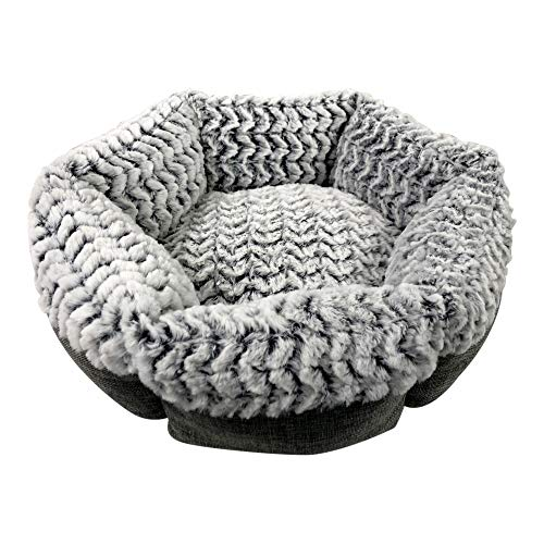 Pet Craft Supply Co. Round Machine Washable Memory Foam Comfortable Ultra Soft All Season Self Warming Cat & Dog Bed, Grey from Pet Craft Supply