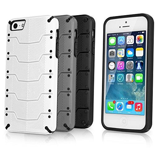 BoxWave ArmorPlate Apple iPhone 5/5s Case Coque rigide à clipser motif haute Absorption des chocs (Gris/noir)