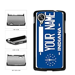 Personalized Custom Indiana License Plate Plastic Phone Case Back Cover Nexus 5