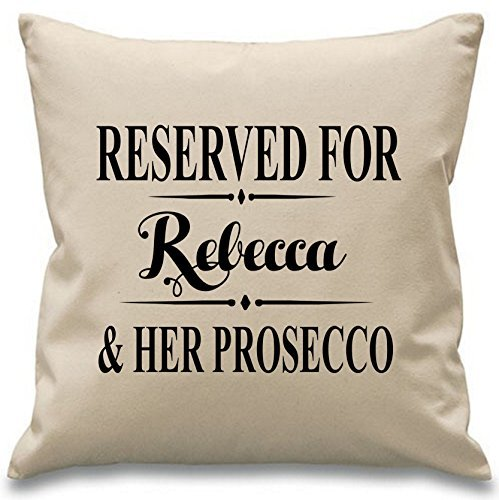 Reserved For Name And Her Prosecco Pillow Covers 18 x 18 Decorative Custom Throw Pillow Covers Christmas Gifts