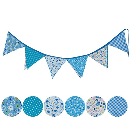 [해외]Chunshop 새로운 다채로운 원단 깃발 깃발 페넌트 웨딩 파티 홈 인테리어 장식/Chunshop New Colorful Fabric Flags Bunting Pennant Wedding Party Home Deco