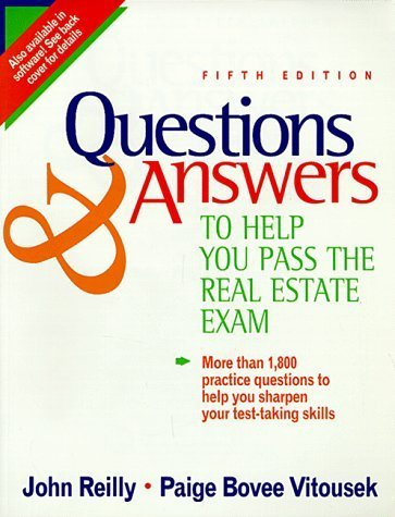 Questions & Answers to Help You Pass the Real Estate Exam by John W. Reilly - Dearborn Mall