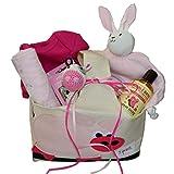 Organic Baby Gift Basket - Organic Newborn Essentials in Pink