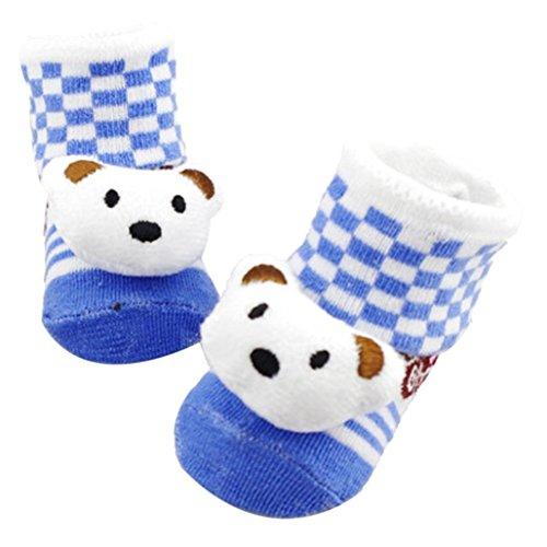 Elevin(TM)Newborn Infant Baby Boys Girls Anti-slip Non-Skid Crew Socks Cotton Boots (F) (Halloween Hedgehog Cupcakes)