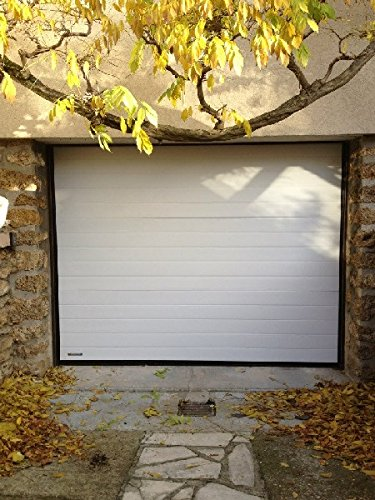 Lattrapeprix-Puerta de garaje aislante 40 mm, Ton bois Noyer ...