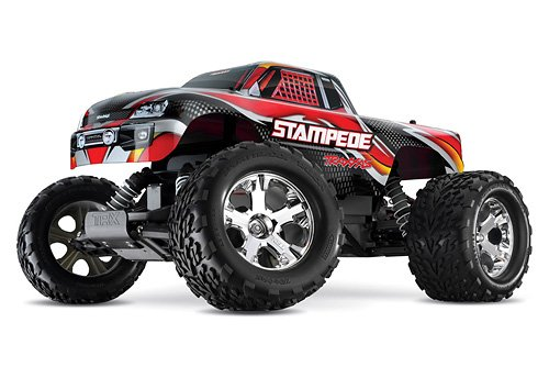 Traxxas RTR 1/10 Stampede with Water Proof XL-5 and 7 Cell Battery with Charger (Colors May (Traxxas Stampede Rtr)