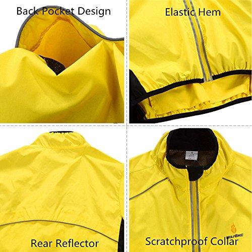 Sleeveless Breathable Reflective Unisex Zipper with Gilet tree Pocket Waterproof Jacket Cycling lemon WOLFBIKE Vest Motorcycle qZUWFp